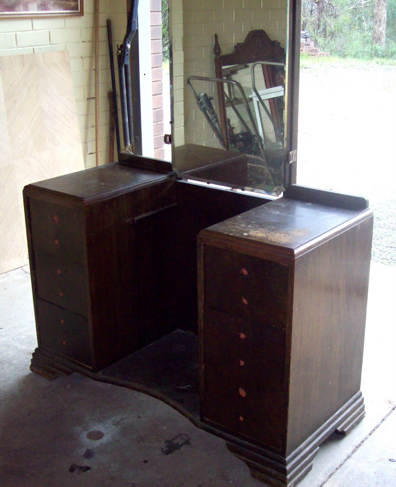 Remodelaholic Furniture Redo Deco Style Dressing Table