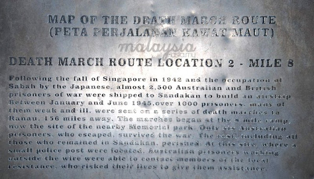 Sandakan Death March Route