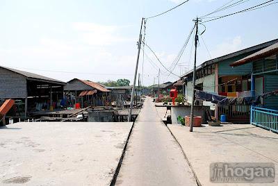 Fishing village in Bagan Tengkorak Tanjung Karang