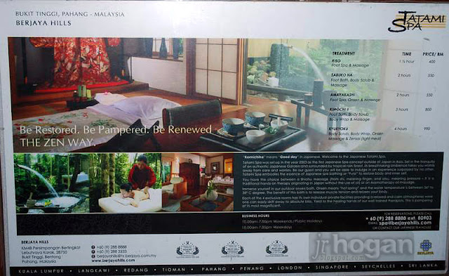 Berjaya Hills Spa Info
