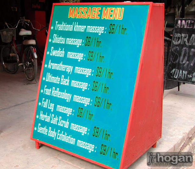 Siem Reap Massage Price
