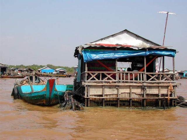 Floating Houses at Tonle Sap Lake