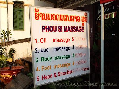 Massage in Luang Prabang