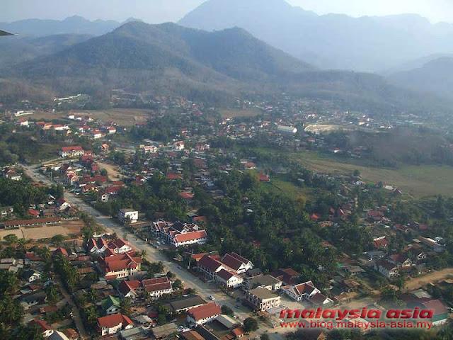 Aerial View of Luang Prabang
