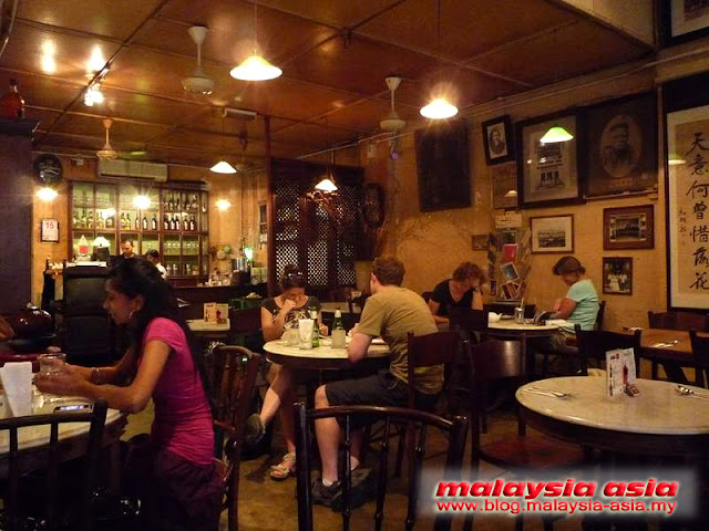 Interior of Old China Cafe in Kuala Lumpur