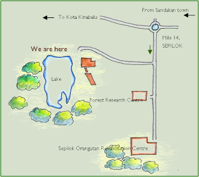 Map to Sepilok