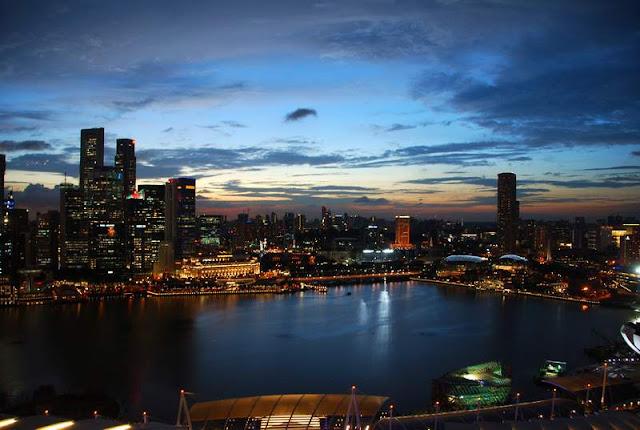 Sunset Marina Bay Sands Singapore