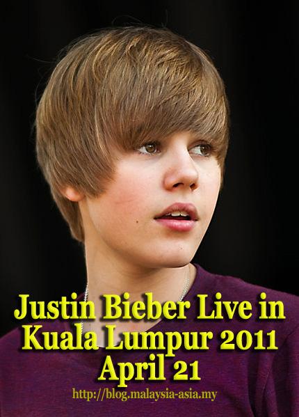 Justin Bieber in Kuala Lumpur Malaysia