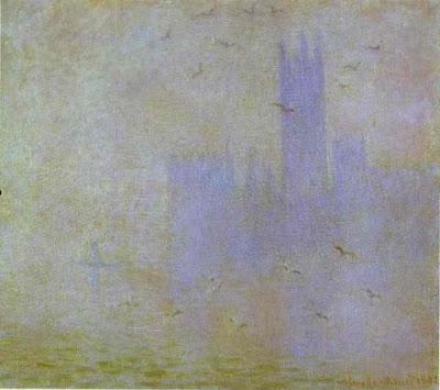"""""""El Támesis y el Parlamento"""" (1904). París."""