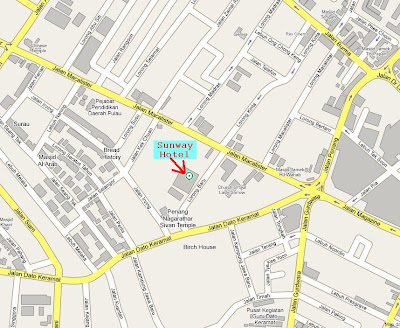location map zoom, Sunway Hotel George Town zoom in