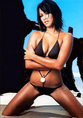 Lisa Jenkins Black Bikini