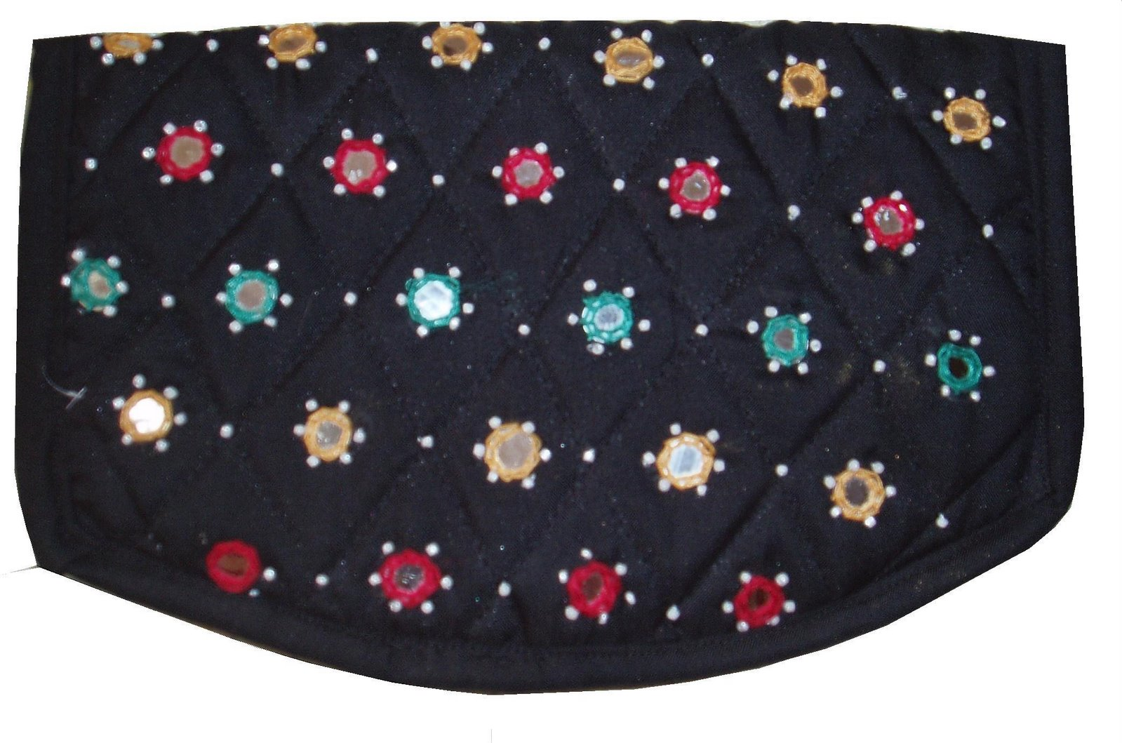 6d04845a9a Easy Crafts - Explore your creativity: Hand Purse with Mirror Work