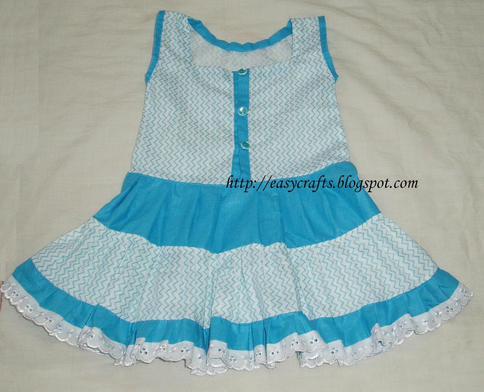 f83b8a81ee94 Easy Crafts - Explore your creativity  Baby Frock