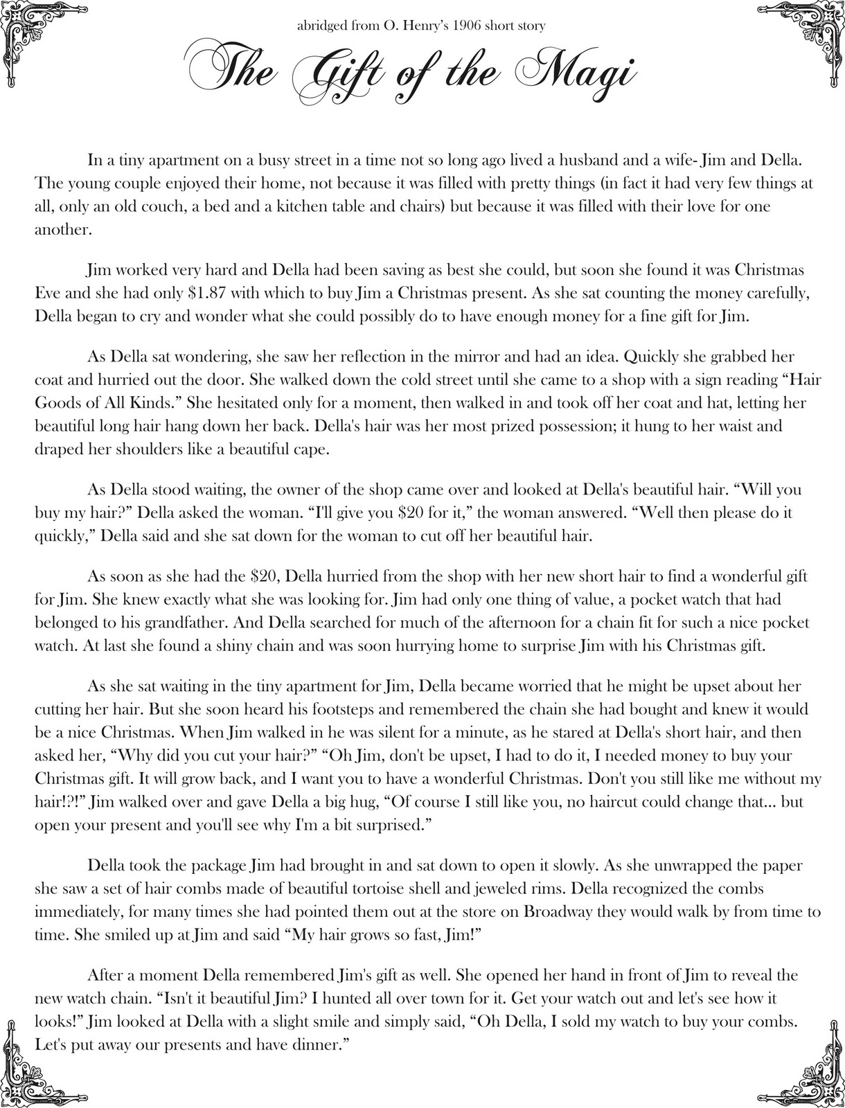 gift of the magi essay the gift of the magi essay