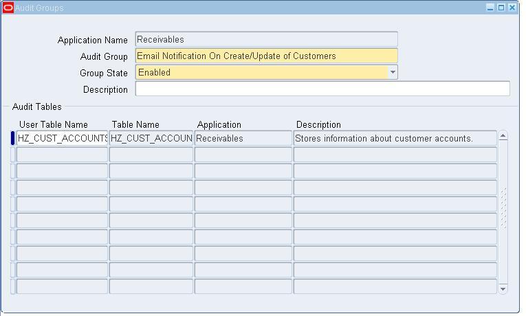 Enabling Audit Trail in Oracle Apps Release 12 - applikast
