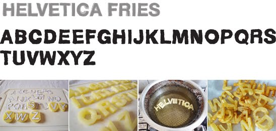 Helvetica Fries, uma fonte de batatas