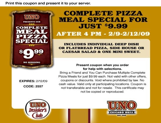 photo regarding Uno Coupons Printable named Uno pizza coupon codes on line / Town nation diner portland or