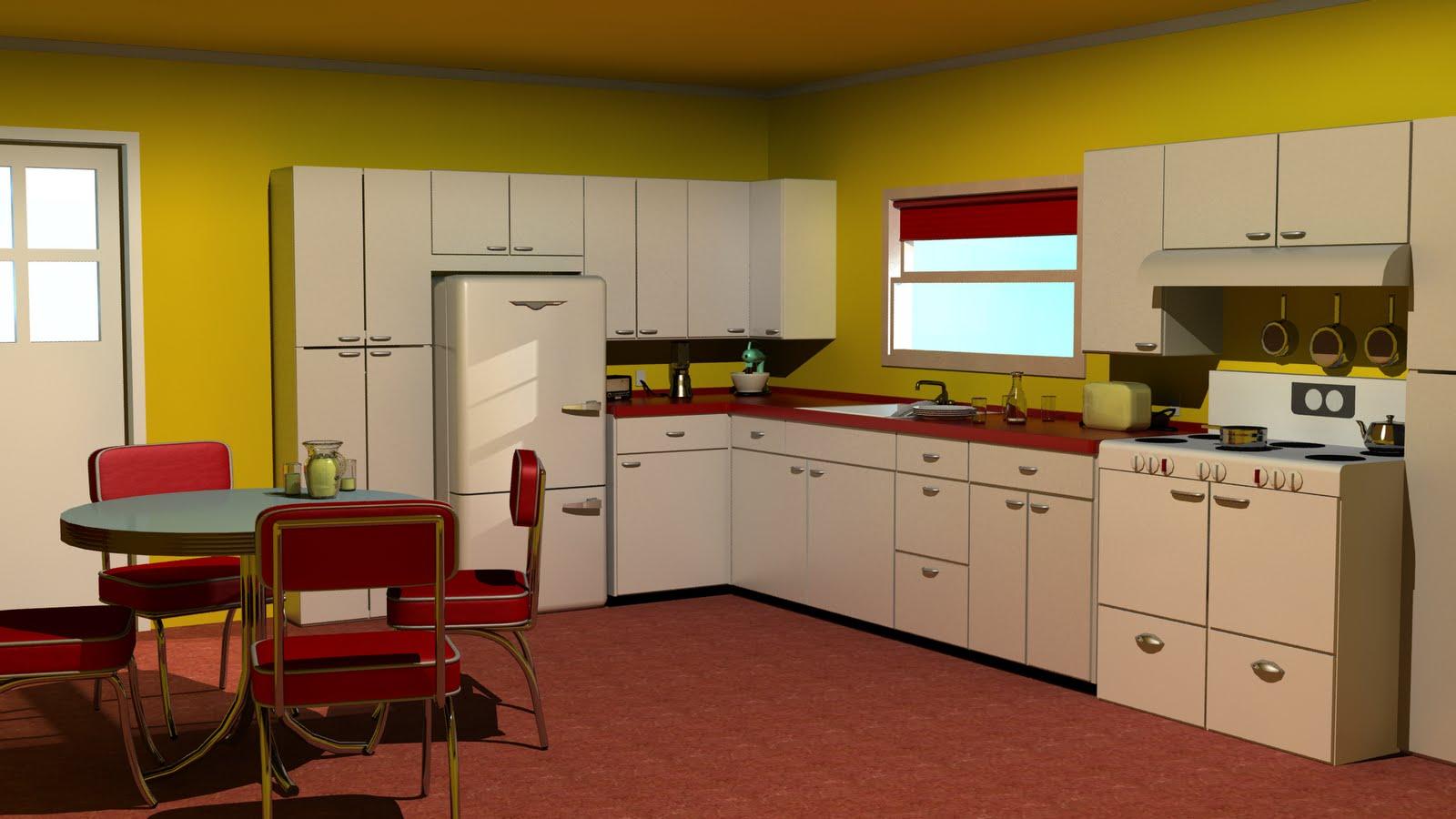 1950s Kitchen Style Afreakatheart