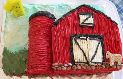 Easy Barn Birthday Cake Liberty Hill House