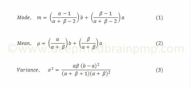 Formula for Mean, Mode and Variance