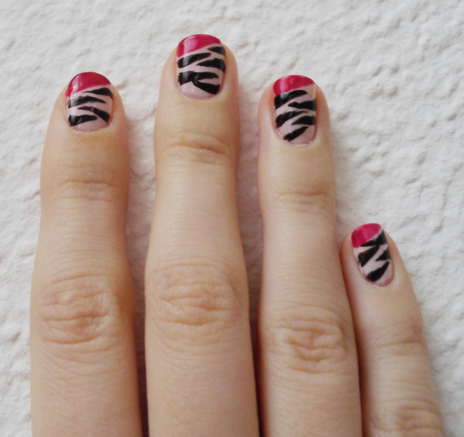 Lindchens World: [Nageldesign] Pink Zebra