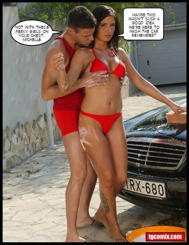 Something Tg captions bikini