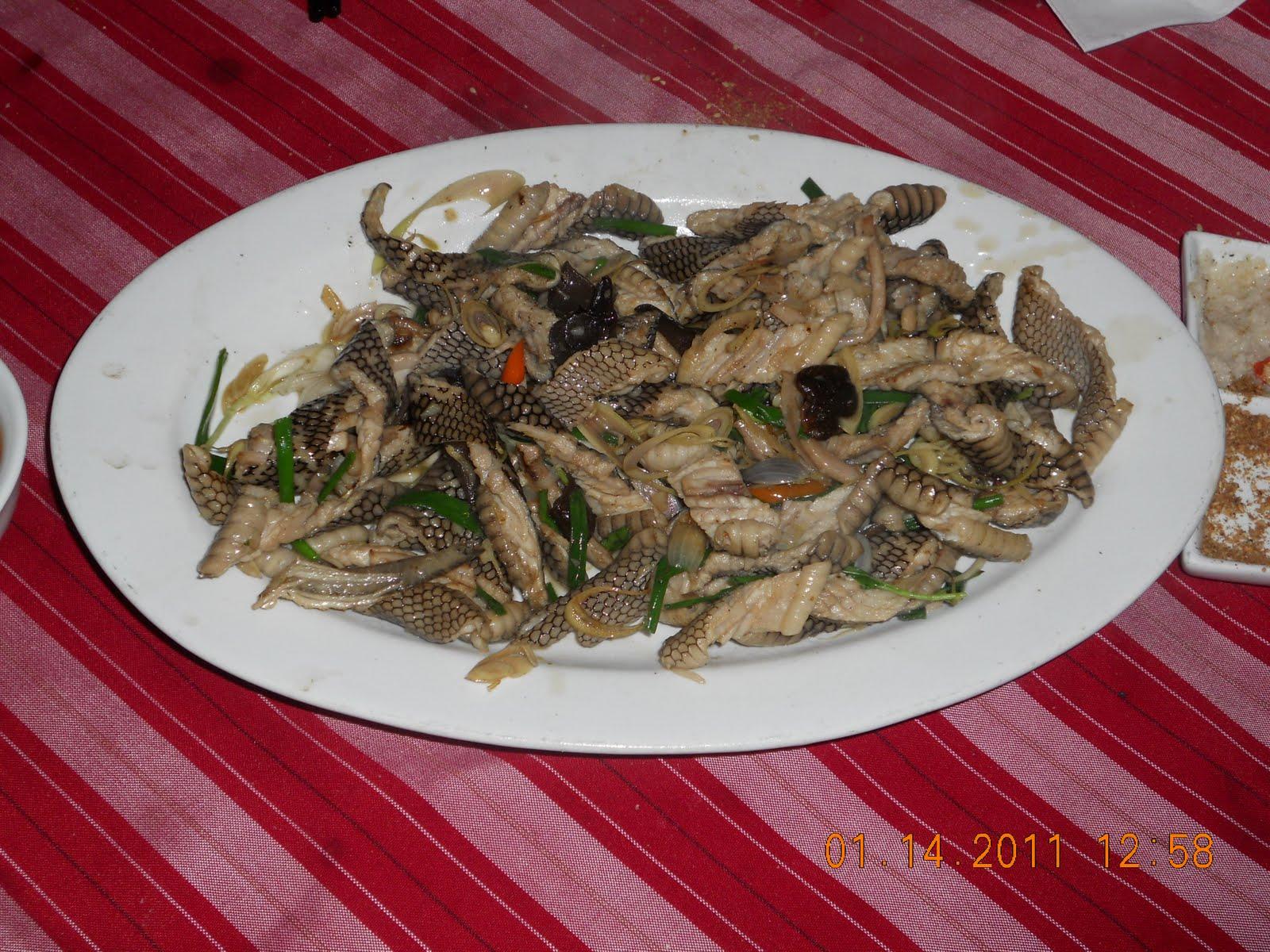 Experience in Vietnam: Snake Meat