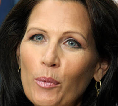 michele bachmann quo. Michele Bachmann puckered like