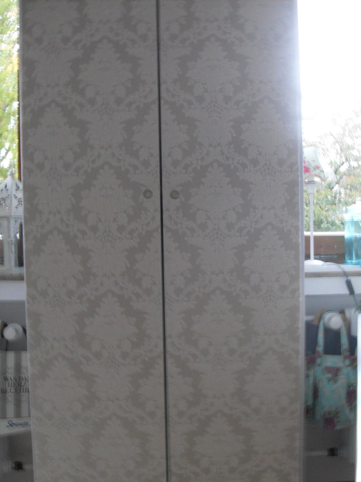 schrank bekleben mit tapete – wohn-design