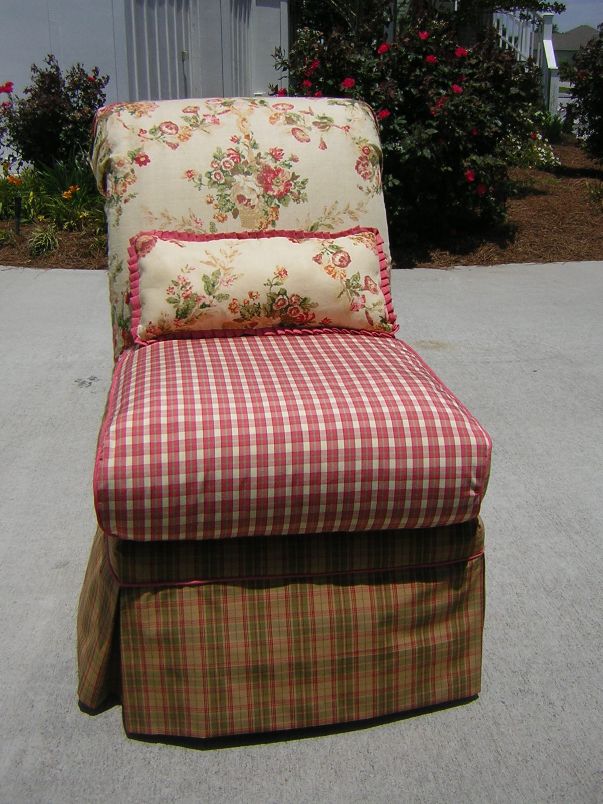 slipcover for armless slipper chair invisible stand chic gets a new