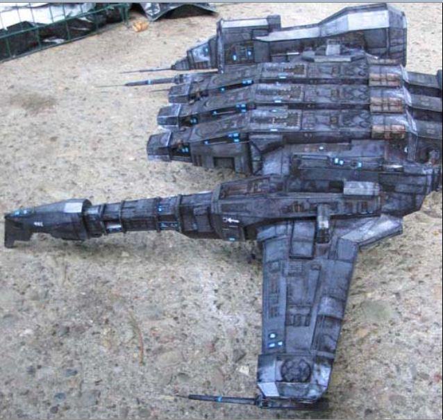 kylefoley Papercraft model of an Eve Online ship