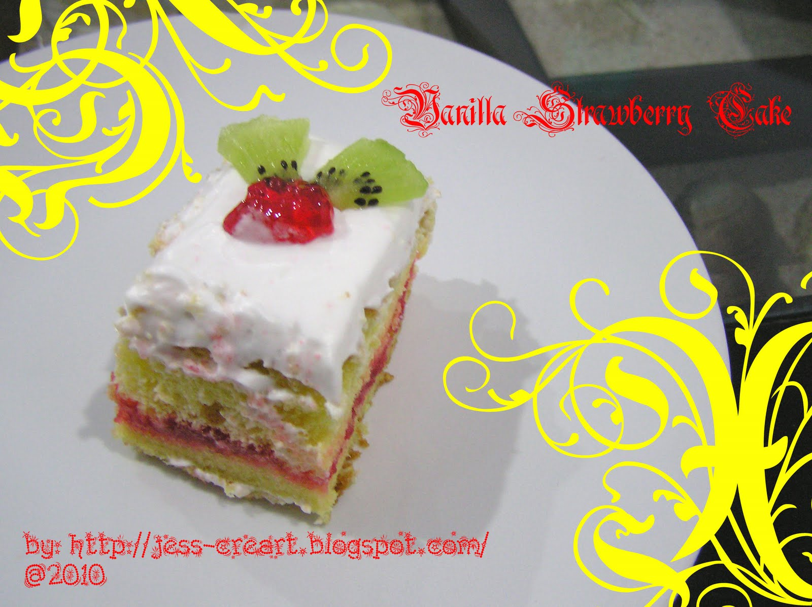 strawberry vanilla cake jess creative vanilla strawberry cake 7780
