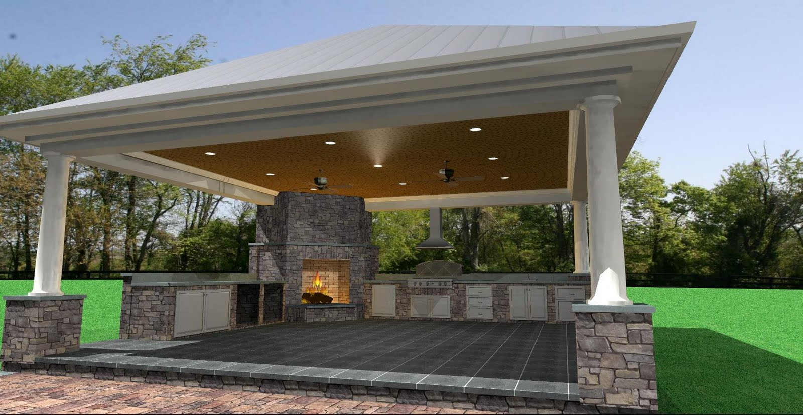Cabana, Pool, and Hardscaping | Selah Design Services on Patio Cabana Ideas id=54258