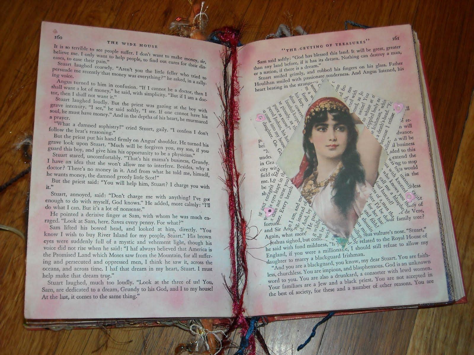 Craftybellydancer: More Altered Book Pages