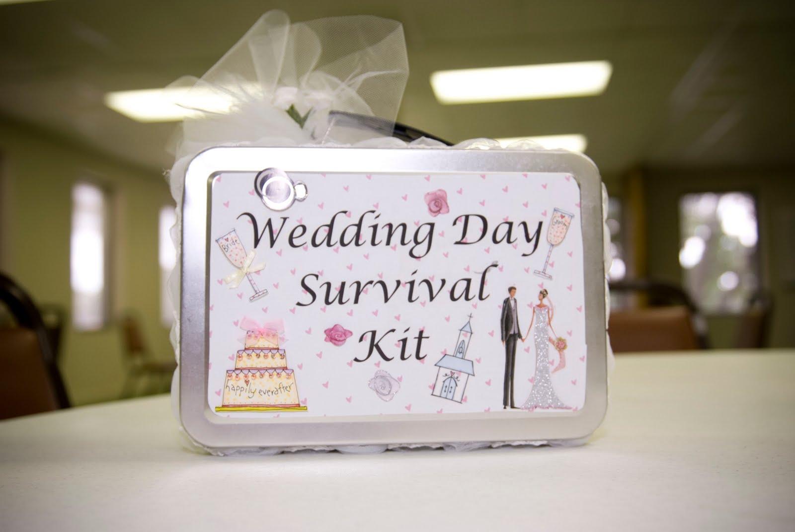 Craft Wedding Gifts: Full Of Craft: Wedding Week: Wedding Day Survival Kit