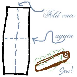 tail - Maçã de feltro