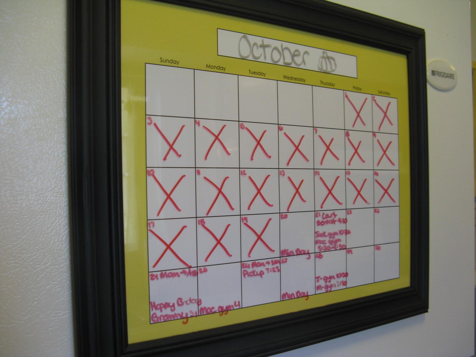 Diy Refrigerator Calendar : Perpetual calendar for your fridge