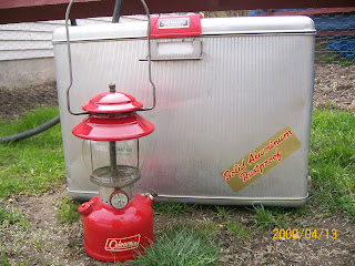 Classic   Coleman  Camping   Lanterns: Vintage Aluminum Cooler By