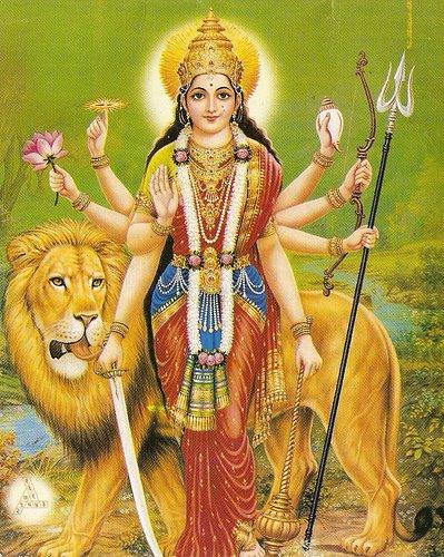 Resultado de imagem para Deusa Durga e o princípio feminino cósmico