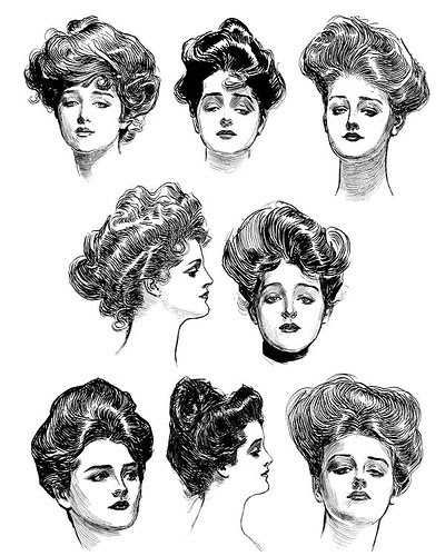 field of poppies: Gibson Girls
