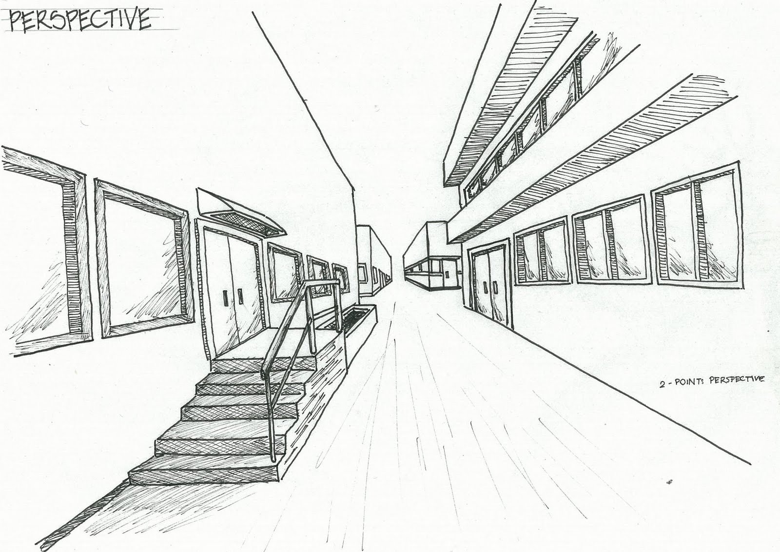 Sj18 Perspective Drawings One Point on One Point Perspective Drawing