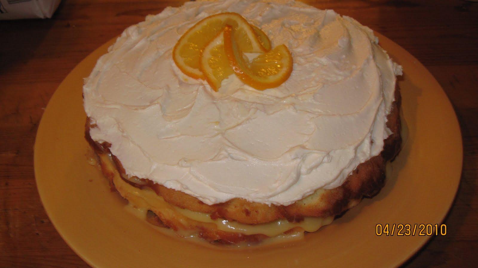 Sponge Cake Recipe Lemon Curd: Red Barn Cafe: Meyer Lemon SPonge Cake With Lemon Curd And
