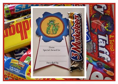 Homemaking Fun Candy Bar Awards
