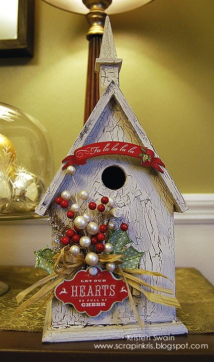 Pursuit of Craftyness: Christmas Birdhouse Decor