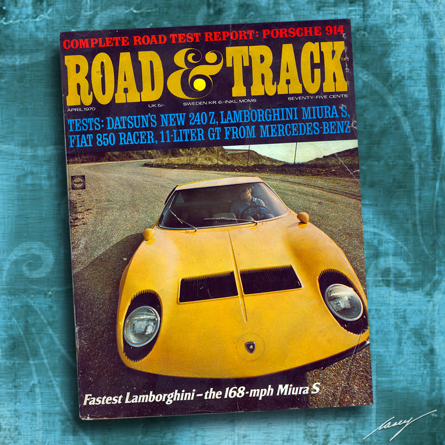 casey/artandcolour: Road & Track, April 1970. Classic Issue!