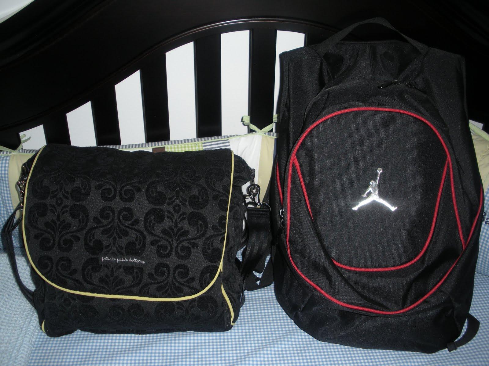 Nike Air Jordan Diaper Bags