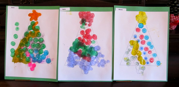 Dot Art Christmas Trees Share Remember