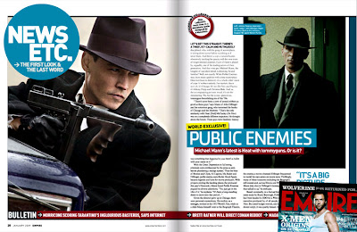 Christian Bale and Johnny Depp in Public Enemies