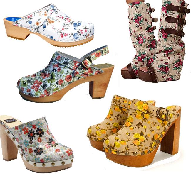 Printsource Floral Clogs
