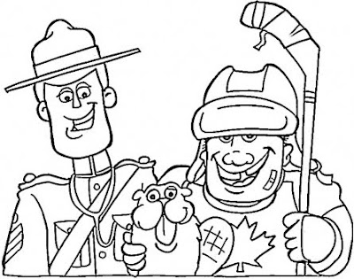 hockey coloring book pages | Calvin's Canadian Cave of Coolness: We Know We Are Awesome